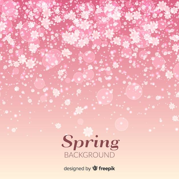 春の背景 無料ベクター