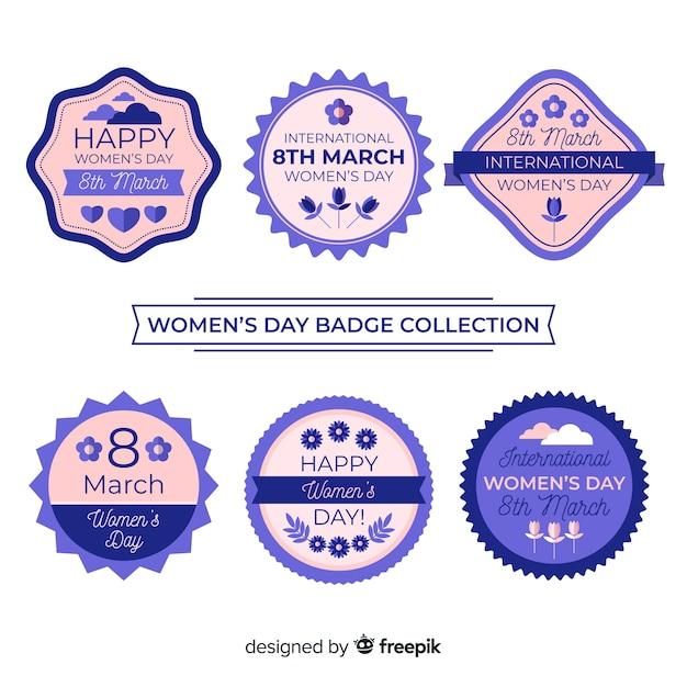 女性の日ラベルコレクション 無料ベクター