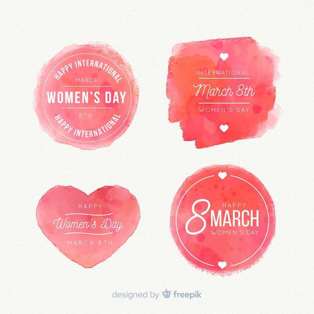 Коллекция женского дня этикетки Бесплатные векторы
