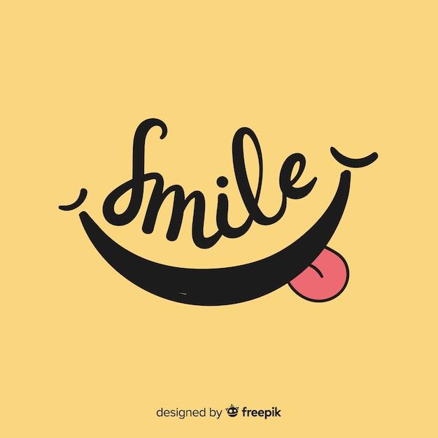笑顔のシンプルな背景 無料ベクター