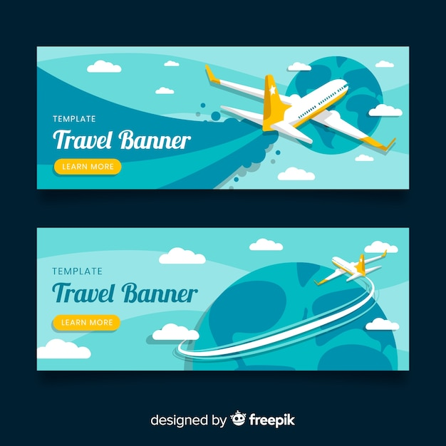 Туристические баннеры Бесплатные векторы