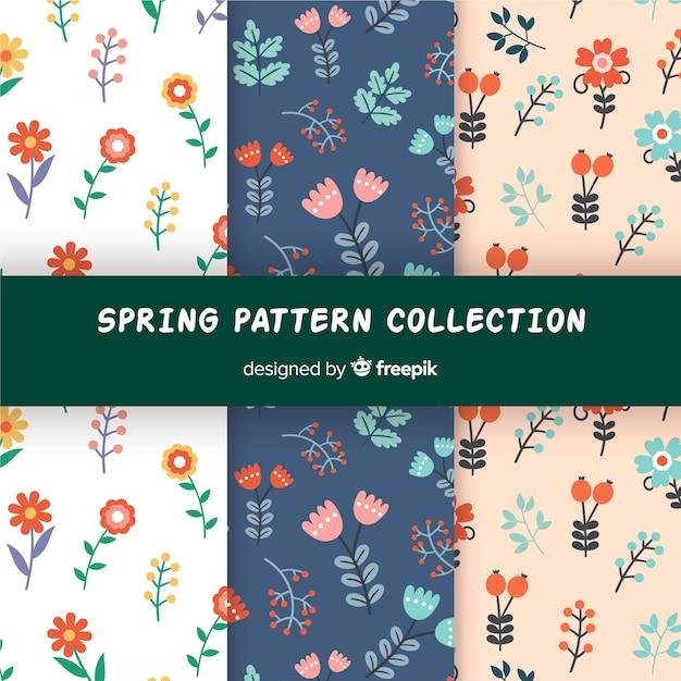 Цветочная коллекция весны Бесплатные векторы