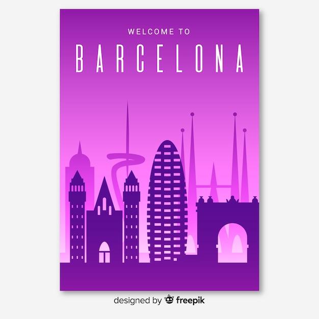 バルセロナのチラシ 無料ベクター