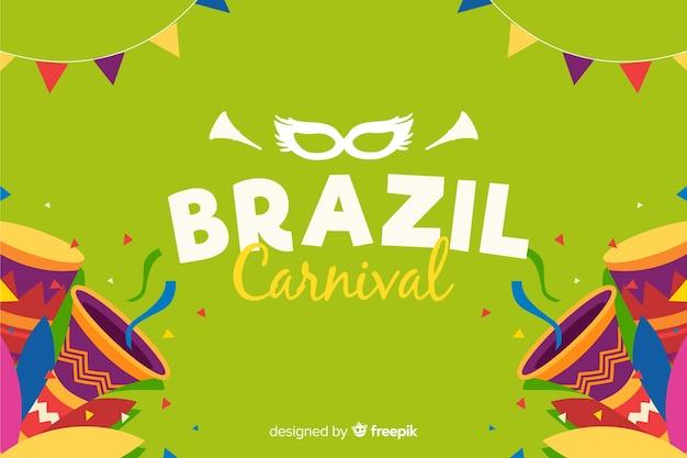 Бразильский карнавал фон Бесплатные векторы