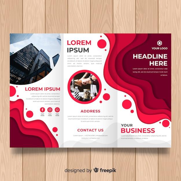 Бизнес тройная брошюра Бесплатные векторы
