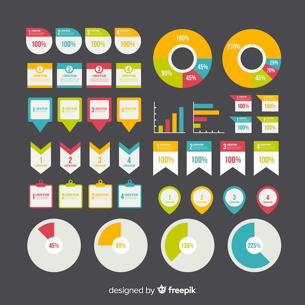 Плоский инфографический элемент Бесплатные векторы