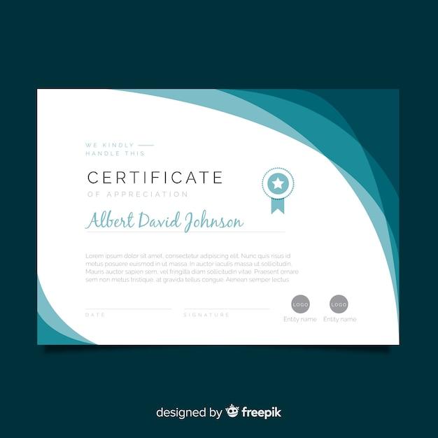 Сертификат признательности Бесплатные векторы
