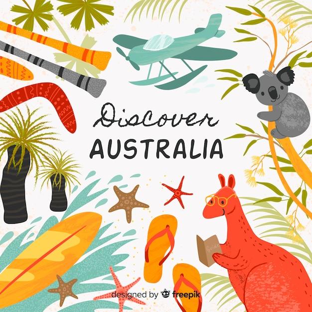 オーストラリアを発見 無料ベクター