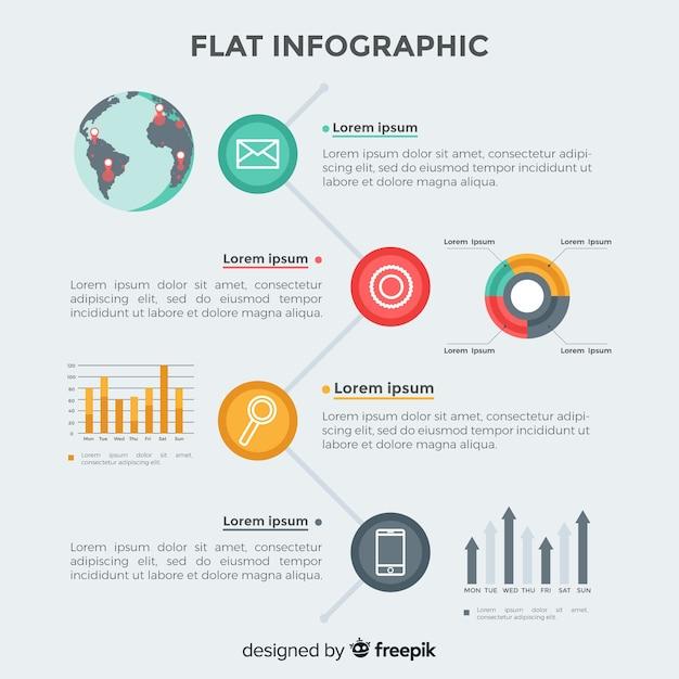Плоская инфографика Бесплатные векторы