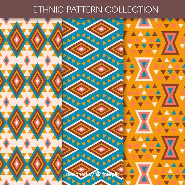 Коллекция этнических узоров Бесплатные векторы