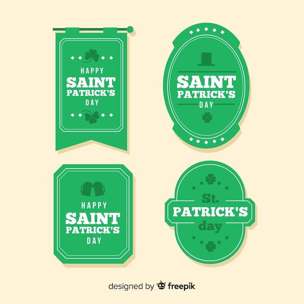 聖パトリックの日バッジコレクション 無料ベクター