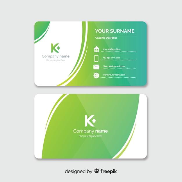 Шаблон визитной карточки Бесплатные векторы