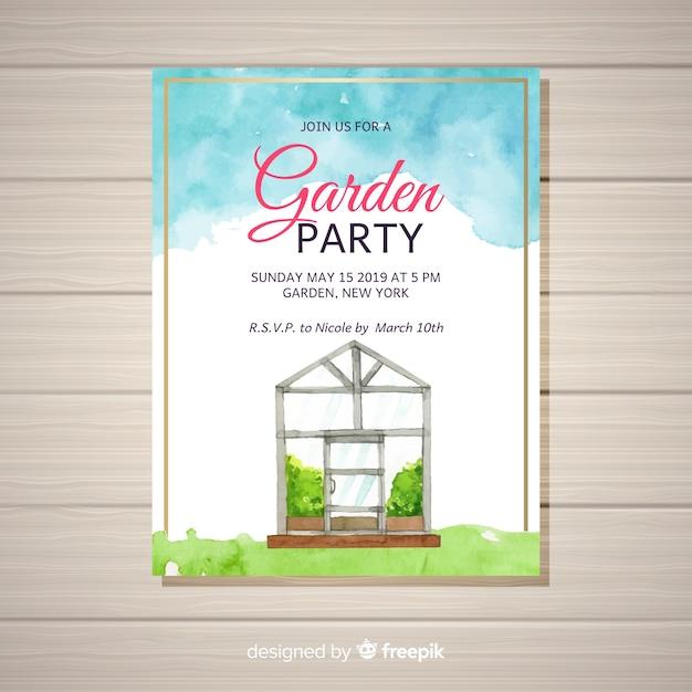 ガーデンパーティーチラシ 無料ベクター