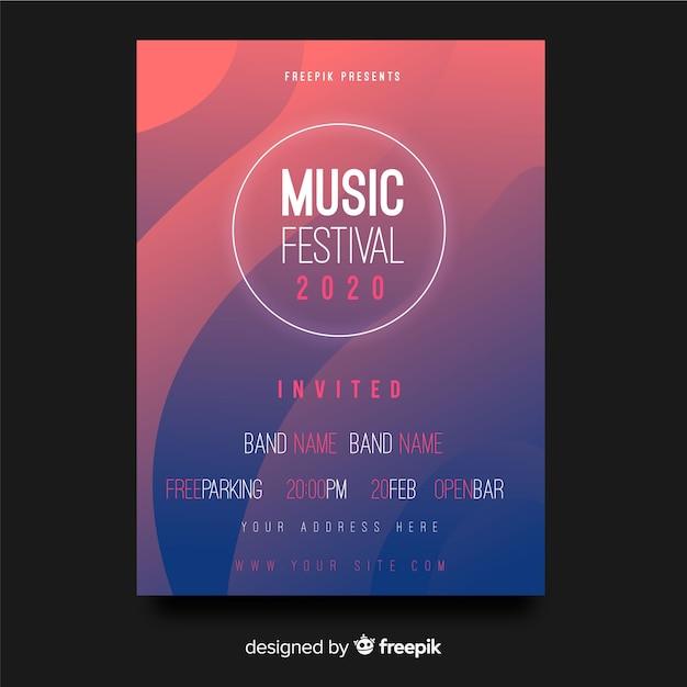 音楽祭ポスター 無料ベクター
