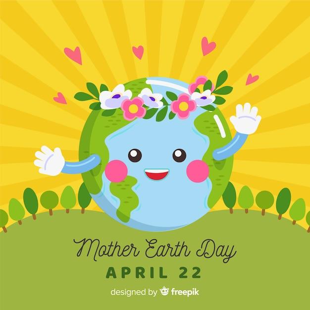 母なる地球の日 無料ベクター