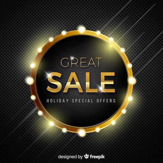 Черно-золотой фон продажи Бесплатные векторы