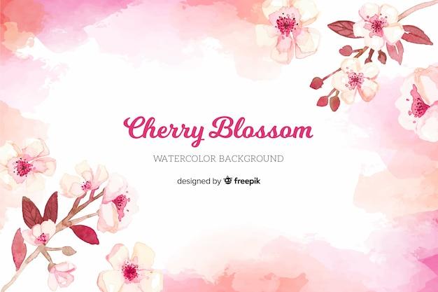 桜の花の背景 無料ベクター