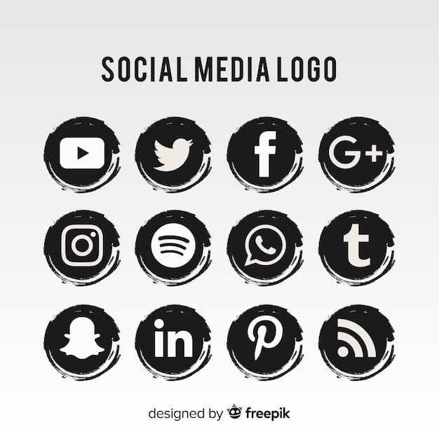 ソーシャルメディアのロゴコレクション 無料ベクター