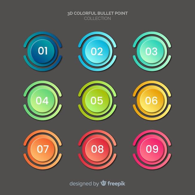 Круглая разноцветная пуля Бесплатные векторы