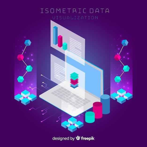 等尺性データの視覚化の概念 無料ベクター