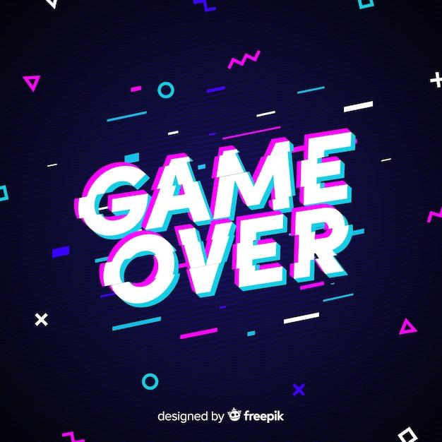 Игра закончена Бесплатные векторы