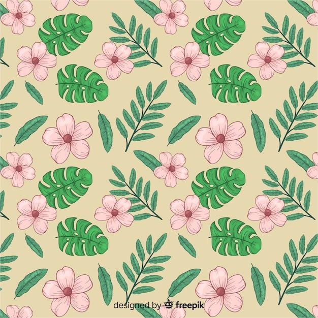 ビンテージ植物パターン 無料ベクター