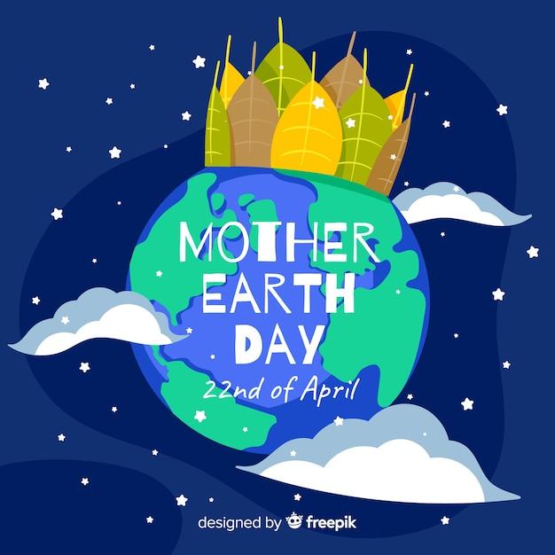母なる地球の日の背景 無料ベクター