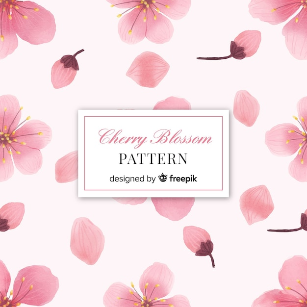 桜の花のパターン 無料ベクター