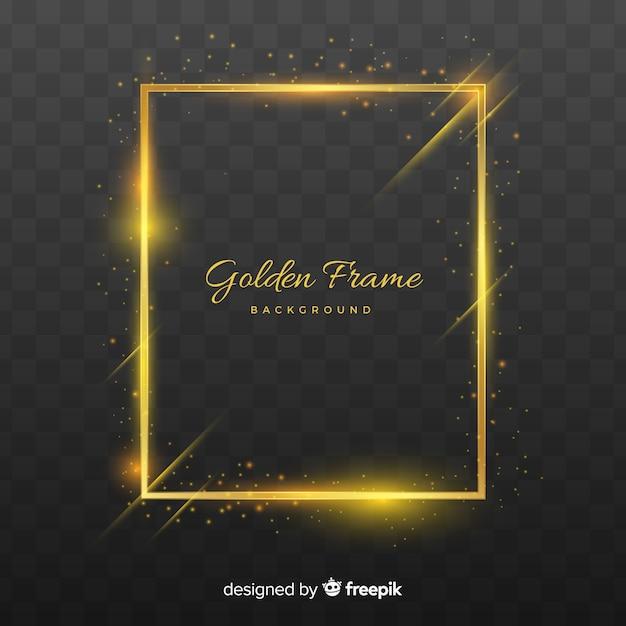Реалистичная золотая рамка Бесплатные векторы