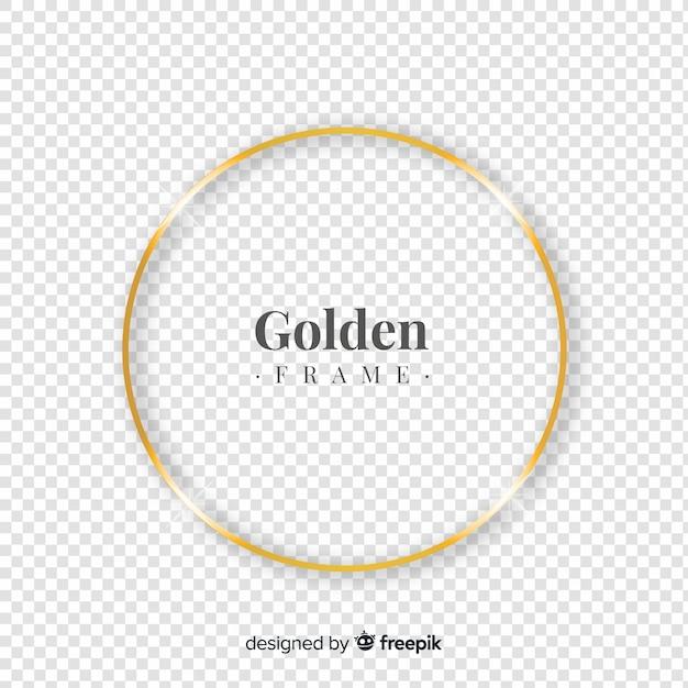 Круглая реалистичная золотая рамка Бесплатные векторы