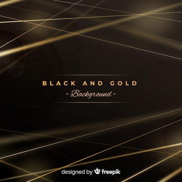 黒と金の背景 無料ベクター