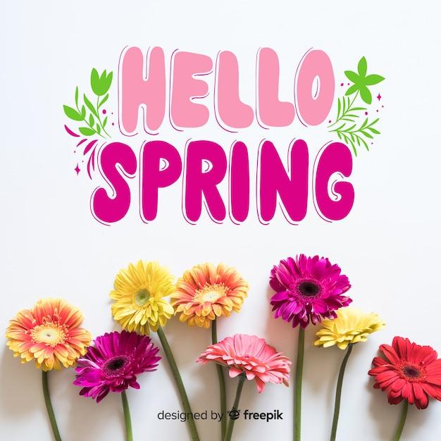こんにちは春 無料ベクター