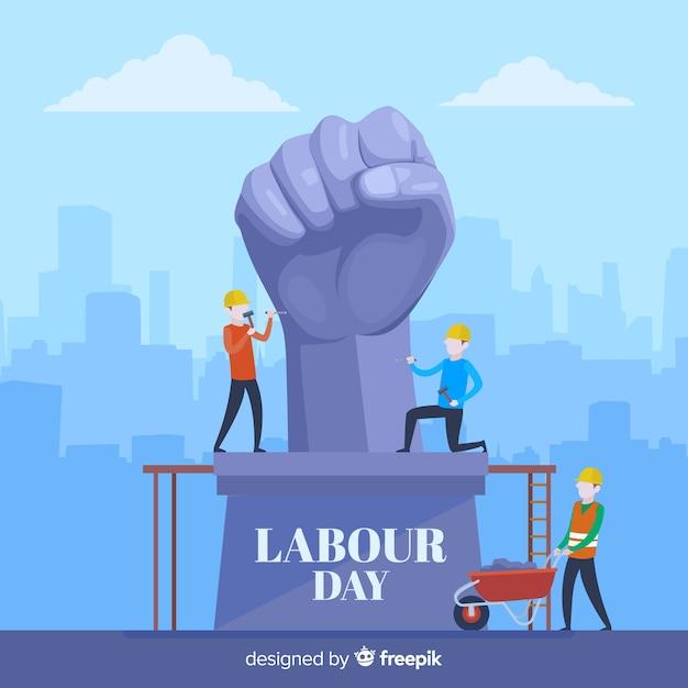 労働者の日の背景 無料ベクター