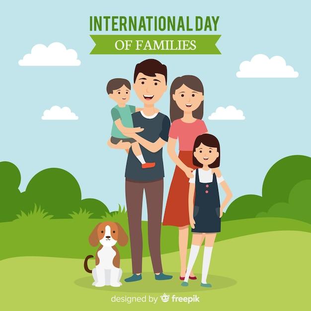 Международный день семей Бесплатные векторы