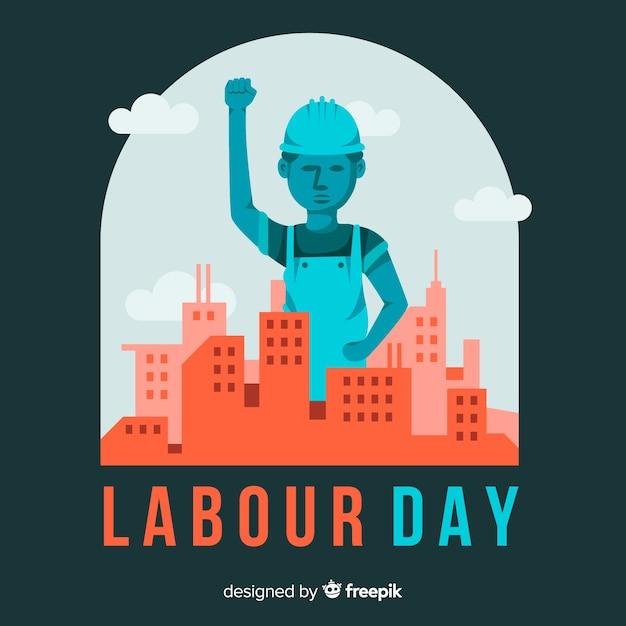 幸せな労働者の日 無料ベクター