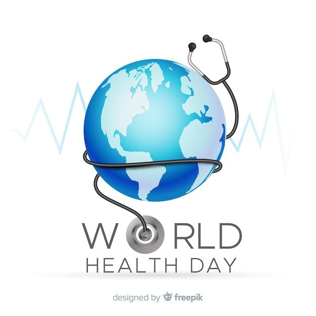 Реалистичный мир здоровья день фон Бесплатные векторы