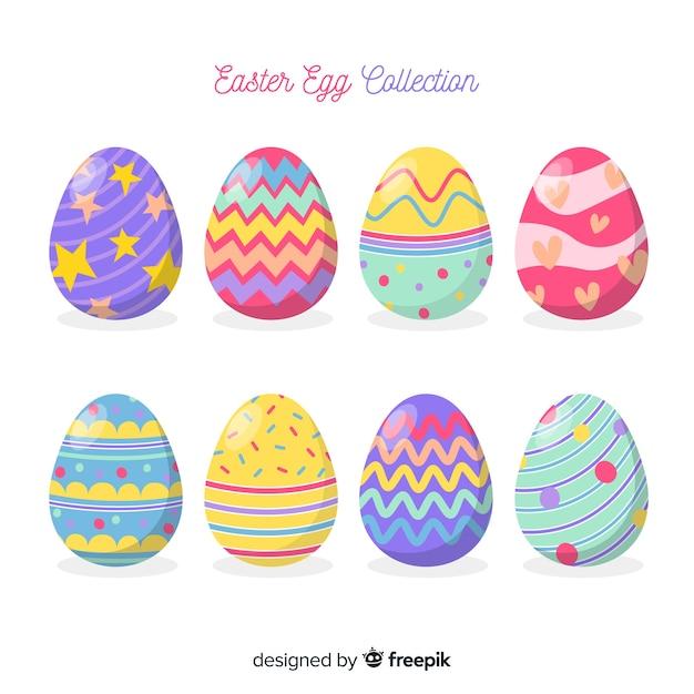 手描きのイースターデーの卵コレクション 無料ベクター