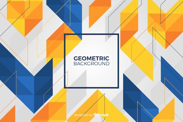 幾何学的図形の背景 無料ベクター