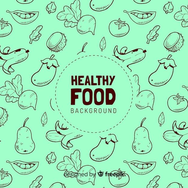 健康食品の背景 無料ベクター