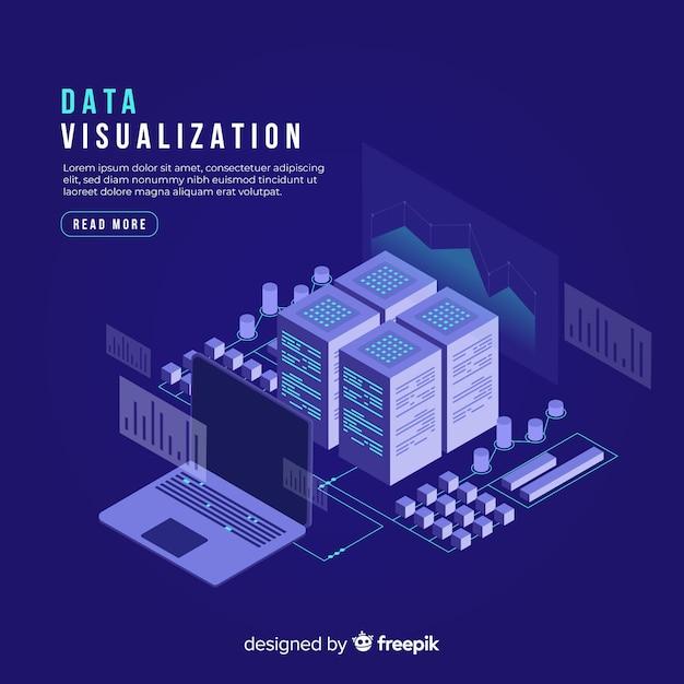 Изометрические данные визуализации концепции фон Бесплатные векторы