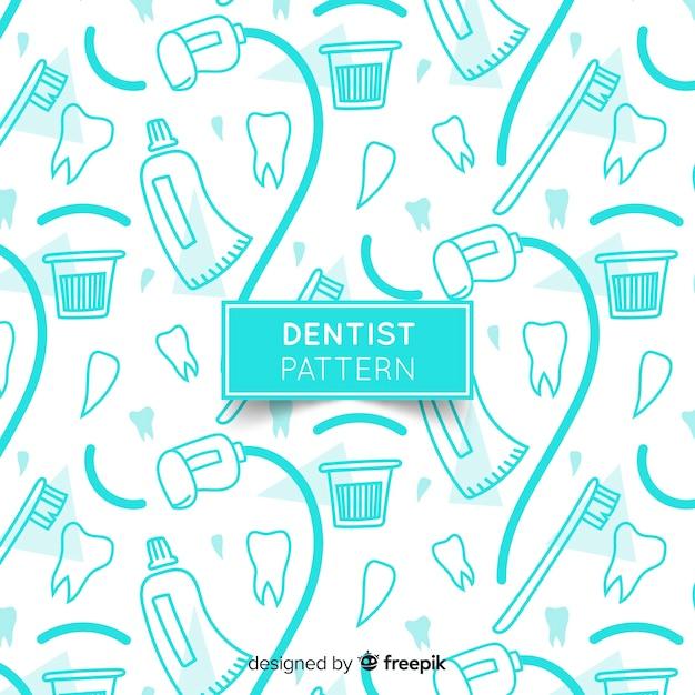 歯科医のパターン 無料ベクター