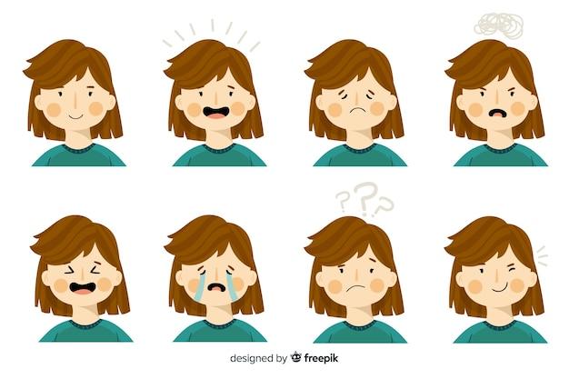 Характер показывая эмоции Бесплатные векторы