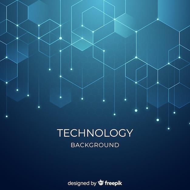 Технологический фон Бесплатные векторы