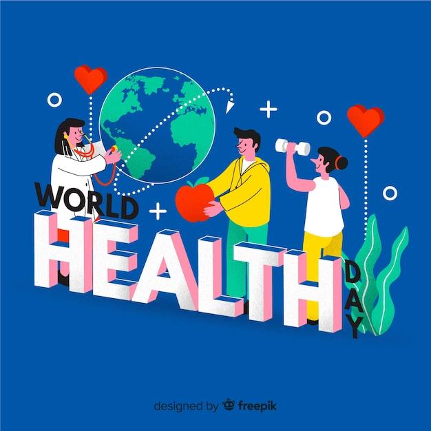 世界保健デー 無料ベクター