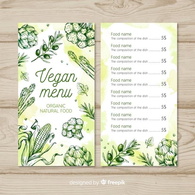 Здоровый шаблон меню Бесплатные векторы