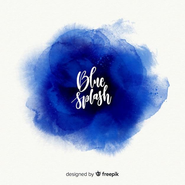青い水彩スプラッシュ 無料ベクター