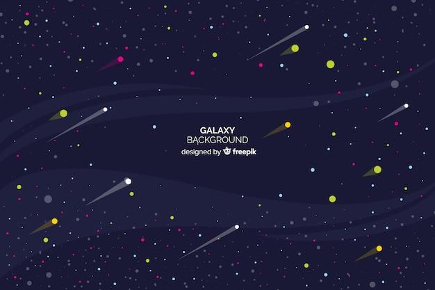 銀河の背景 無料ベクター