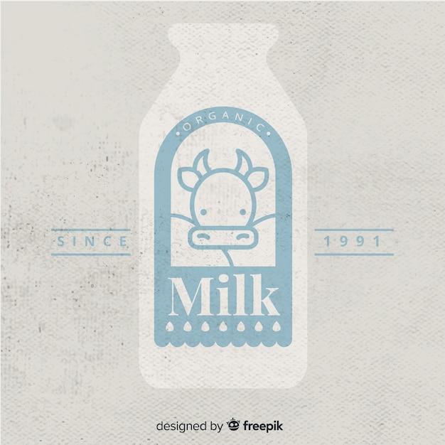 Логотип органического молока Бесплатные векторы