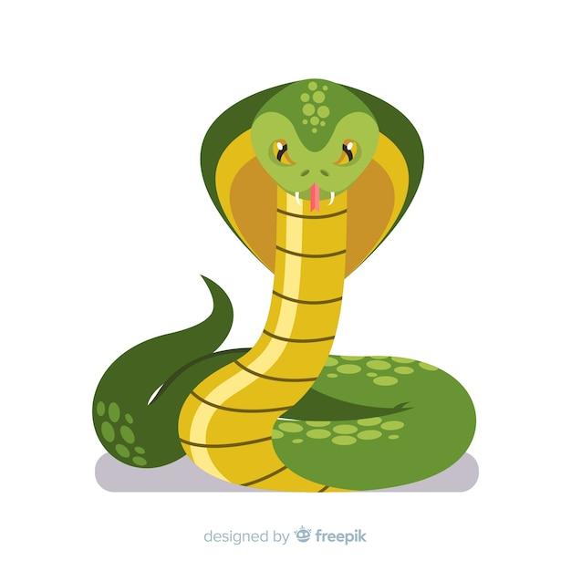 手描きコブラの背景 無料ベクター