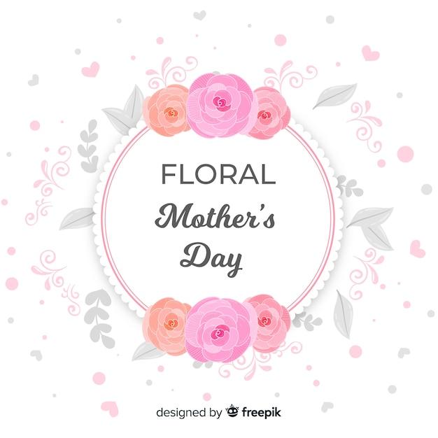 花の母の日の背景 無料ベクター